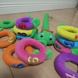 可愛い青虫とワニの知育玩具セット - 家具