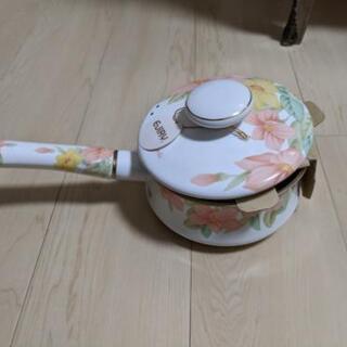 ホーロー鍋 未使用品
