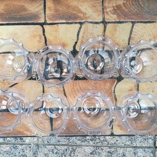 【取りに来ていただける方限定】アクリル製ミニ金魚鉢×8個 無料で差し上げます! - その他