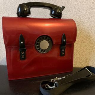 電話型バッグ 2WAY テレフォンバッグ 黒電話 赤