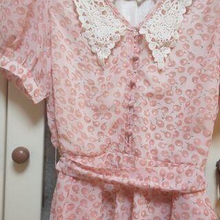 SPICA  ピンクのさくらんぼ柄 キュロットワンピース 美品✨ M