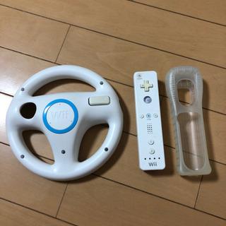 セット Wiiリモコン Wiiハンドル 白 ホワイト 任天堂純正