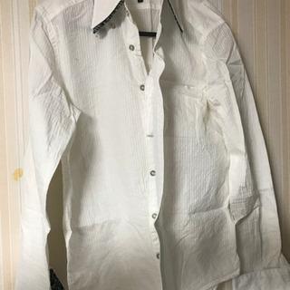 カジュアル 白 シャツ Yシャツ
