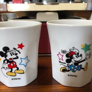 ディズニー ミッキーマウス コップ湯呑み2個セット