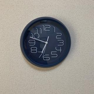 掛け時計ネイビー