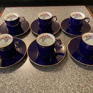 宮内庁御用達の香蘭社コーヒーカップセット6客セット