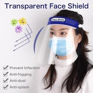 【5枚入り】フェイスシールド 飛沫防止/ウィルス対策 防霧PET...