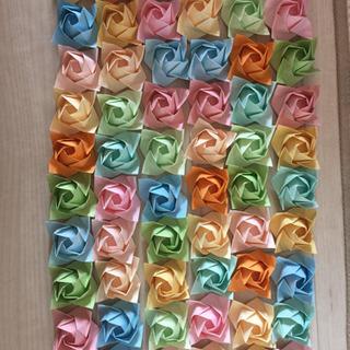 折り紙 立体バラ大 60個