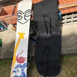 スノーボード板(カバー、ビンディング付き)女性用