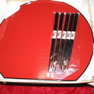 応接お盆とお箸のセット 5組