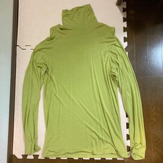 値下げ!JUNMEN ハイネックシャツ M グリーン