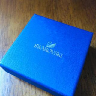 【とっても美品】スワロフスキーペンダント【箱付】ゴールドダイヤ
