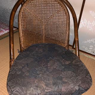 籐 ラタン 回転座椅子