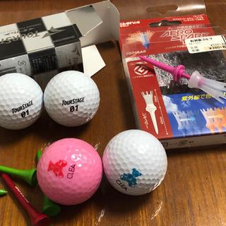 ゴルフボール、ティー