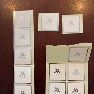 マリオットホテルのシール(12枚)