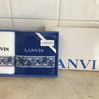 (箱入り・新品)LANVIN ランバン フェイスタオルとウォッシ...