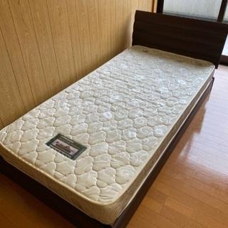 【美品】シングルベッド(マットレス付)