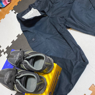 作業ズボン安全靴