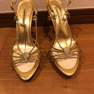 ゴールドピンヒール サンダル 靴 お値下げ