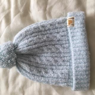 ミキハウス 乳児用ニット帽(未使用)