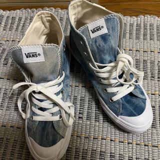 【お値下げ中】vans スニーカー ハイカット デニム 靴 ヴィ...