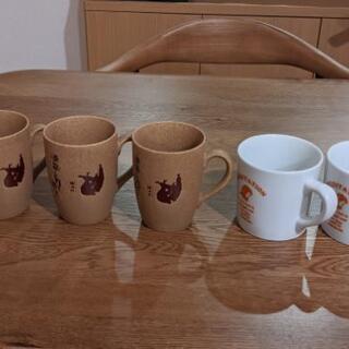 講道館マグカップ3つとマグカップ2つ(未使用)