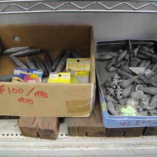 リサイクル 中古 釣り用 おもり 錘 大量 海釣り 沖釣り いろいろの画像