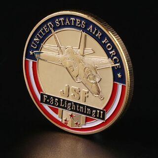 【非売品・記念品】アメリカ合衆国空軍 F35戦闘機のコイン