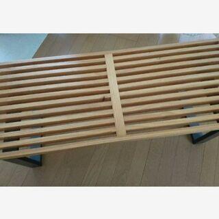 リビングテーブル おしゃれ 木製家具 色(メイプル × 黒)