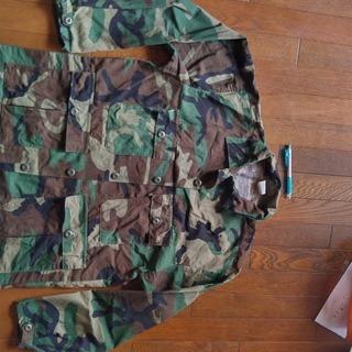 米式迷彩 ミリタリーシャツ(L)米製