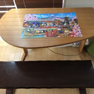 【無料】ダイニングテーブル&長椅子セットの画像