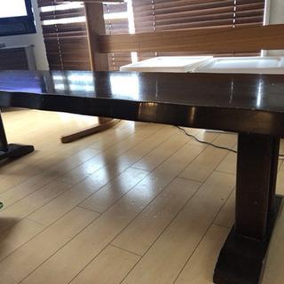 【無料】ダイニングテーブル&長椅子セット - 練馬区