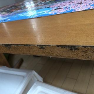 【無料】ダイニングテーブル&長椅子セット - 家具