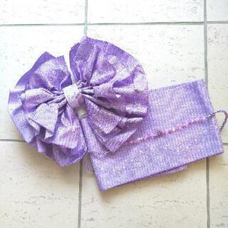 浴衣 作り帯+帯飾りセット