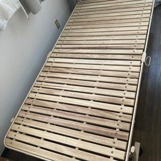 折り畳み すのこ ベッド シングル