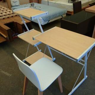 パソコンテーブル★ラック一体型★椅子付き