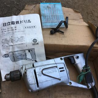日立電気ドリル 6.5mm金工用 中古