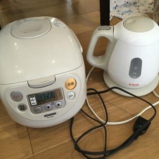 象印 炊飯釜 炊飯器 NS-WB10  ティファール ケトル セット