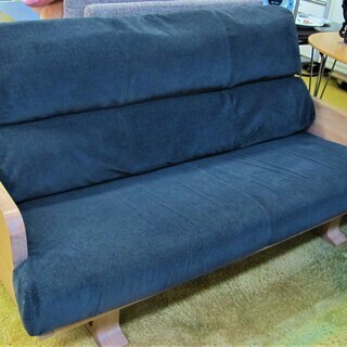 3人掛けソファ 布張り 木製フレーム 幅180×奥80cm