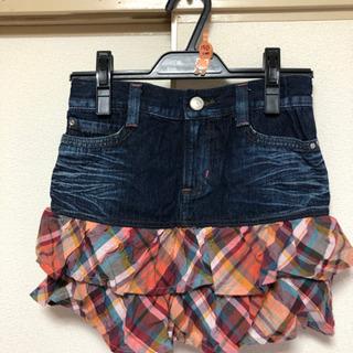 値下げ中♡150cm デニムの裾レーススカート