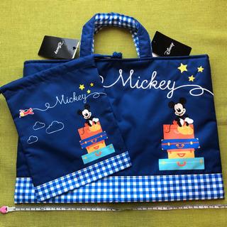 【新品】JAL 機内販売 レッスンバッグ セット ミッキー ディズニー