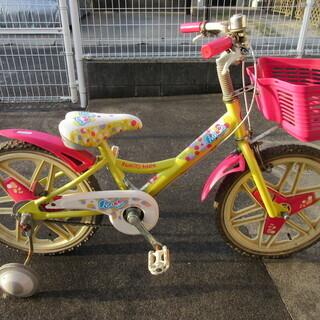 子ども用 自転車16インチ 補助輪付き の画像