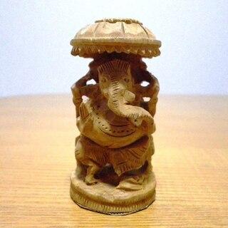 ガネーシャ 木彫り アジアン雑貨