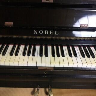 アンティークアップライトピアノ NOBEL 2本ペダル - 楽器