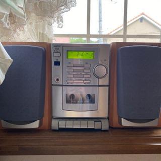【CDデッキ コンポ】動作します カセットも聴けます