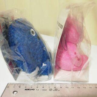 UQピンクガチャ&ブルーガチャムク マスコット(非売品) - おもちゃ