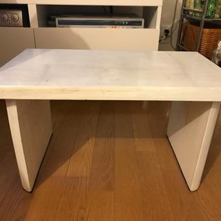 サイドテーブル ビンテージ風 白