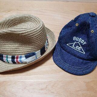 帽子セット。 麦わら帽子(キッズフォレスト)とLeeのキャップセット
