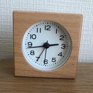 無印良品 ブナ材時計 アラーム機能付