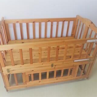 【受付終了】天然木パイン材 サークルやベンチにもなる長く使える多...